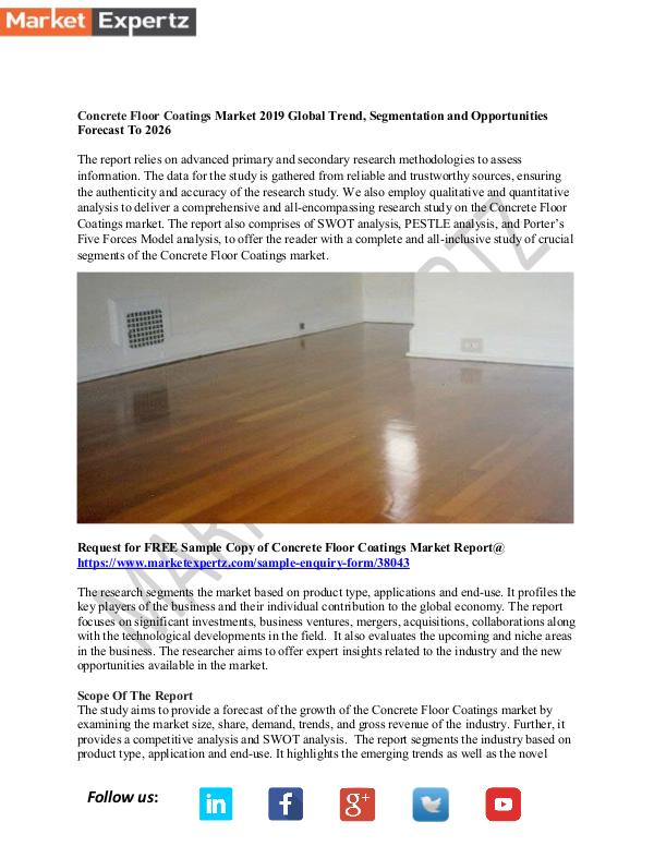 My first Publication Concrete Floor Coatings