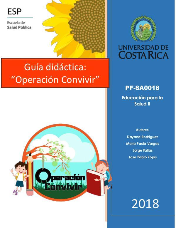 Mi primera revista Guía didactica operación convivir