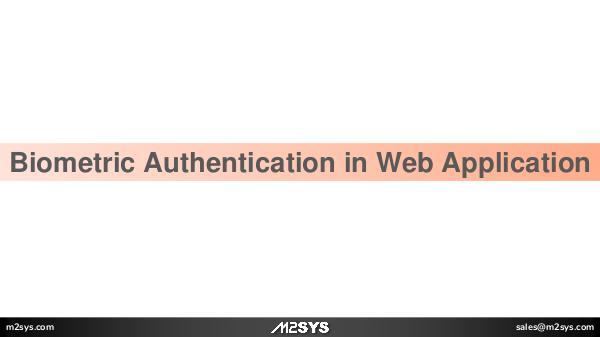 David Biometric Authentication in Web Application