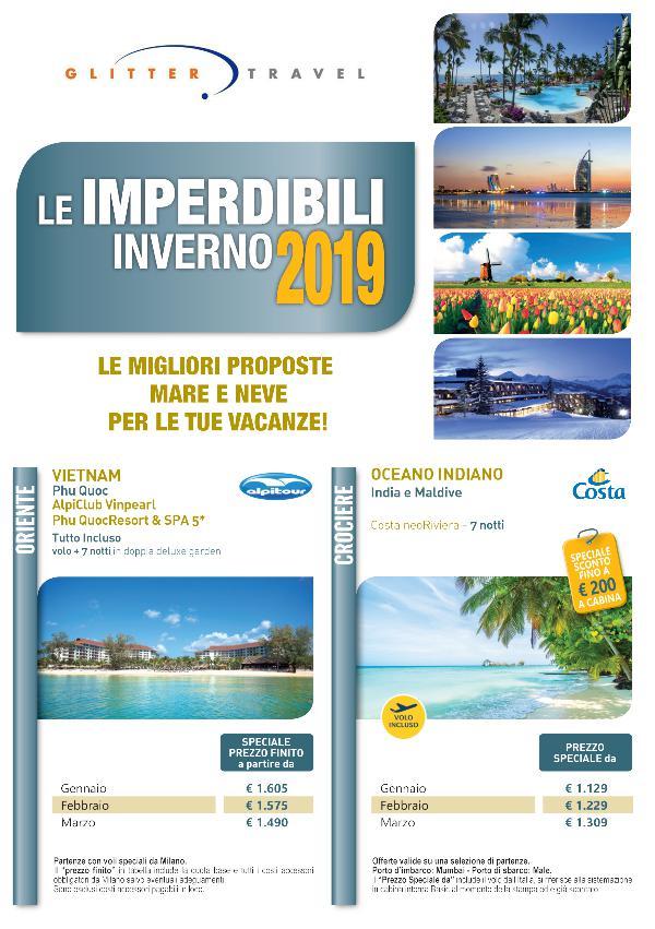 Le Imperdibili Inverno 2019 Glitter Travel SEANET imperdibili  2019 Glitter