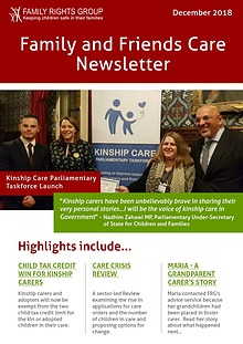 Family and friends care newsletter - December 2018