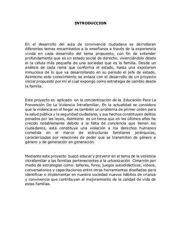 PROYECTO ESTADO SOCIAL DE DERECHO. PROYECTO PARA REVISION