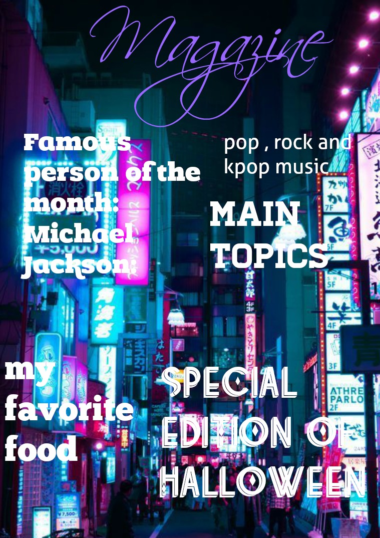 MAGAZINE about the different topics working in English
