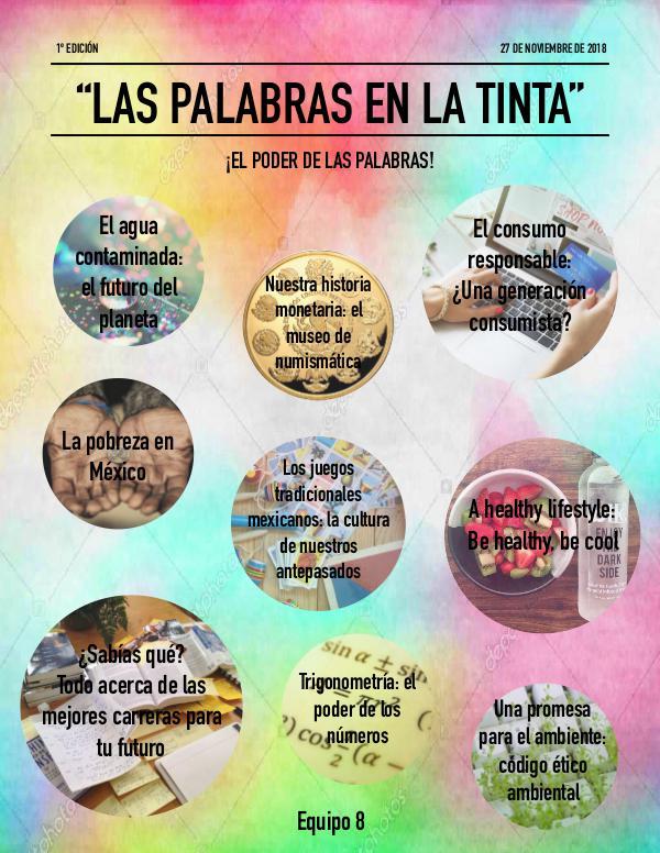 LAS PALABRAS EN LA TINTA Noviembre, 2018