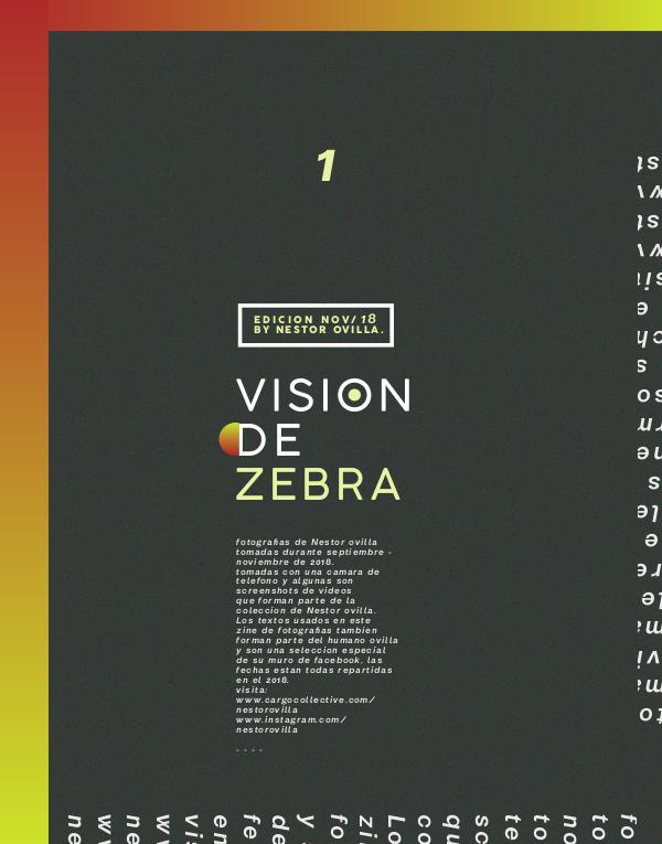 Visión de zebra - Libro I - Nov. 2018 Vol. 1