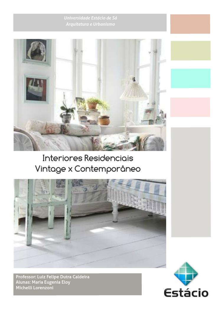 Minha primeira Revista Interiores residenciais.