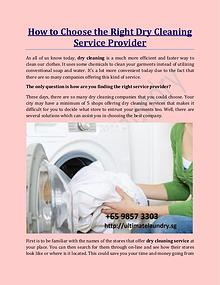How to Choose the Right Dry Cleaning Service Provider