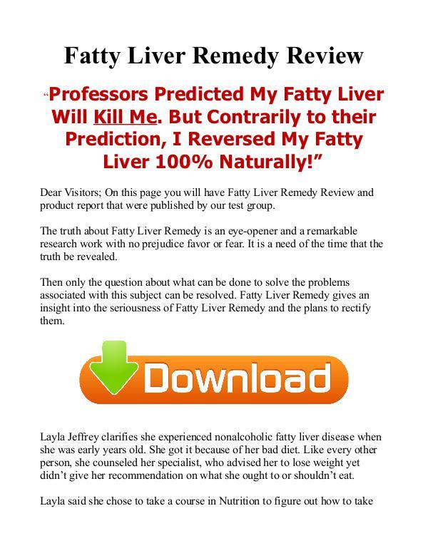 Fatty Liver Remedy PDF EBook Free Download Fatty Liver Remedy PDF EBook Free Download