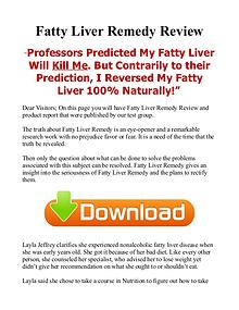 Fatty Liver Remedy PDF EBook Free Download