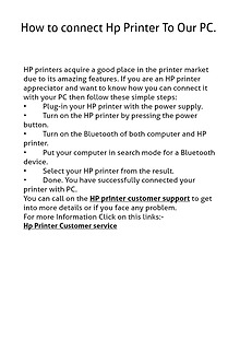 Hp Printer Customer service