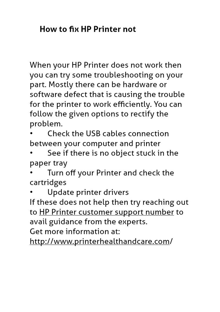 HP Printer Customer Service Phone Number HP Printer Customer Care Phone Number