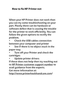 HP Printer Customer Service Phone Number