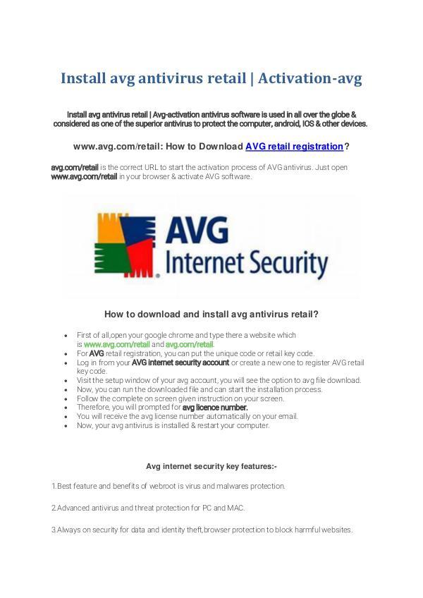 Install avg antivirus retail | Activation-AVG Install avg antivirus