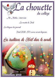 La Chouette du collège - Décembre 2018