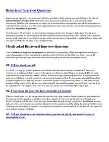 Behavioral Interview Questions-pdf