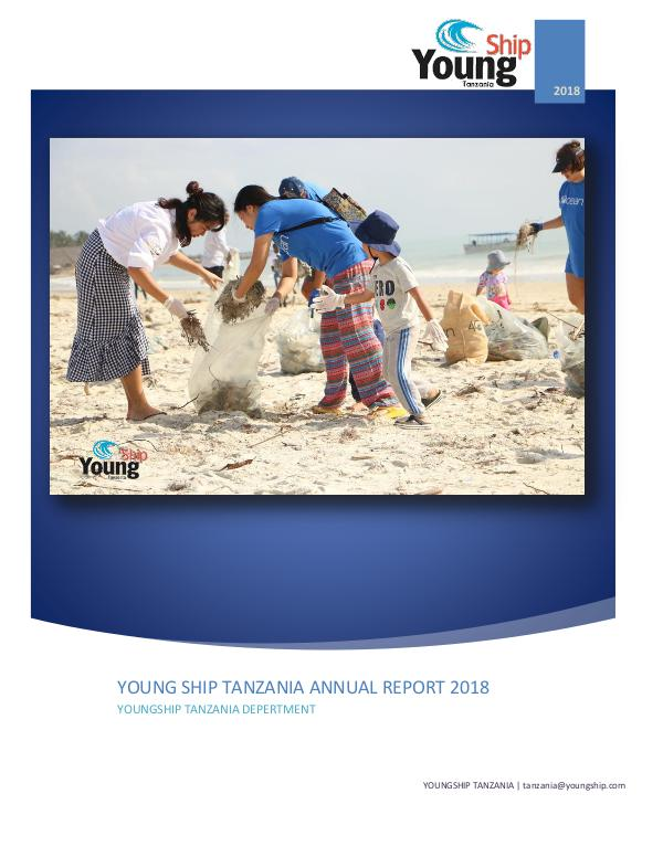 YOUNGSHIP TANZANIA ANNUAL REPORT 2018 ABOUT YOUNG SHIP TANZANIA