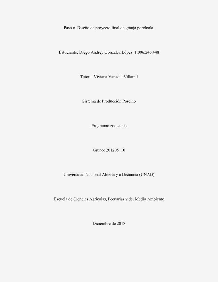 proyecto sistema de producción porcino Paso 6 fase final
