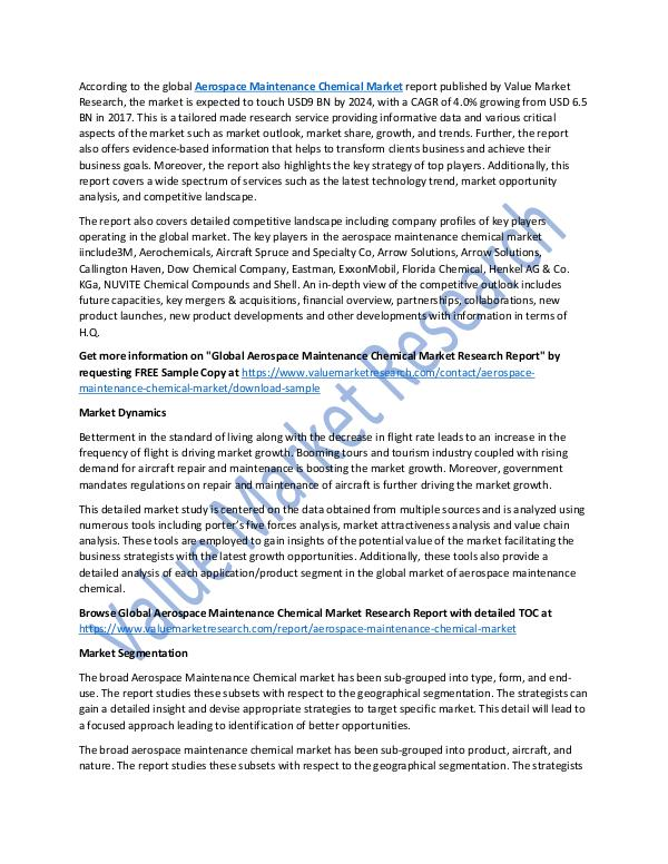 Aerospace Maintenance Chemical Market Report, 2025