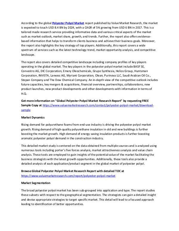 Polyester Polyol Market 2018-2025 Report