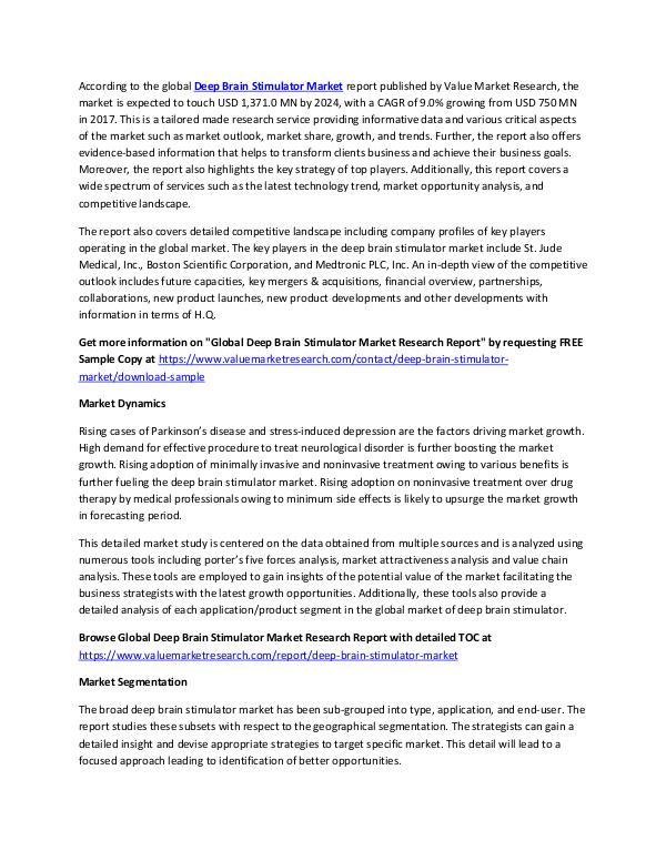 Deep Brain Stimulator Market 2018-2025 Report