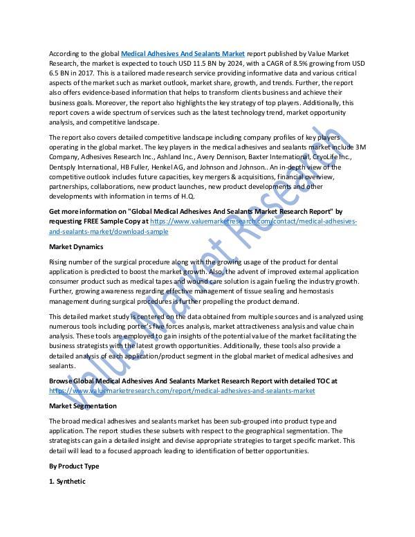 Medical Adhesives And Sealants Market Report, 2025