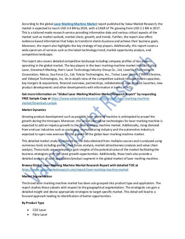 Laser Marking Machine Market Report 2018-2025