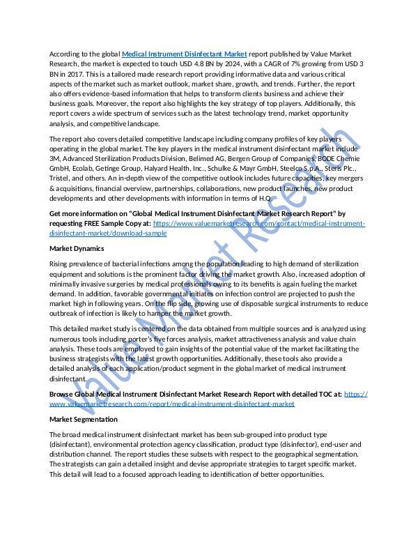 Medical Instrument Disinfectant Market Report 2025