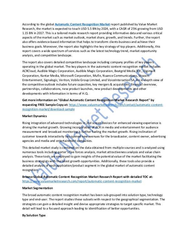 Automatic Content Recognition Market Report, 2025