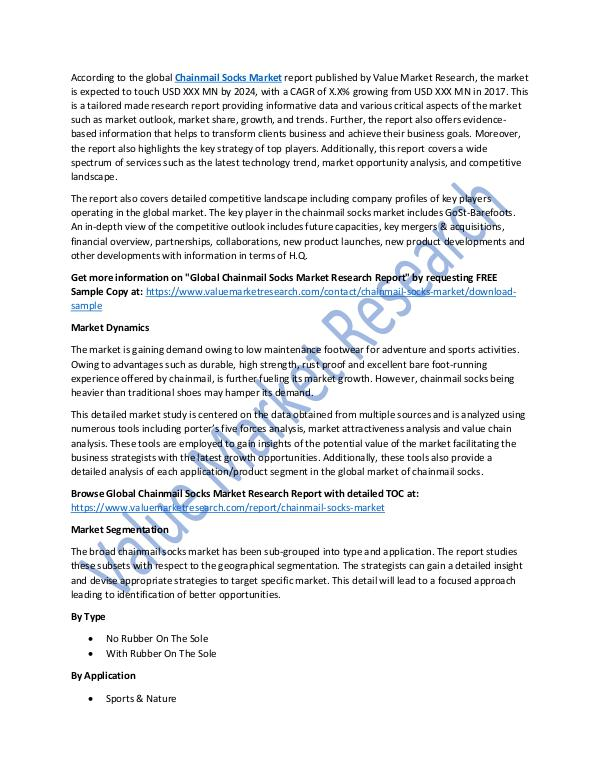 Chainmail Socks Market 2018-2025 Report