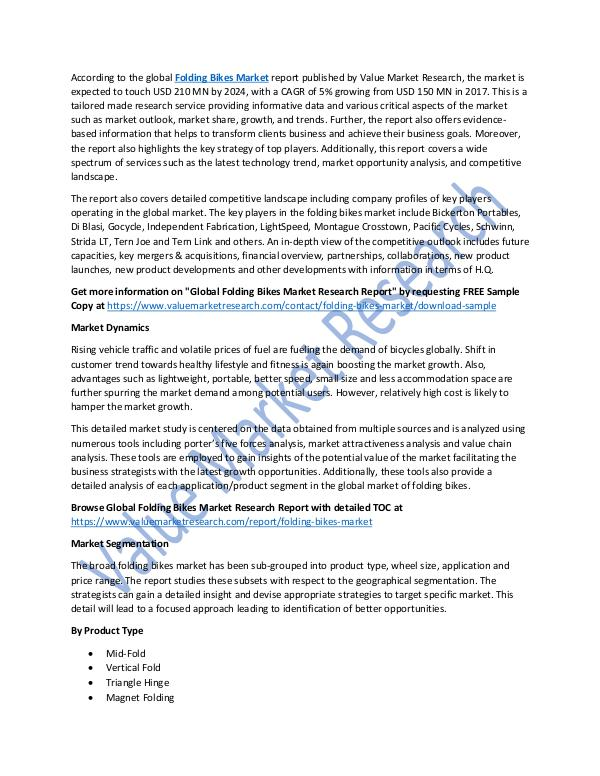 World Industries Folding Bikes Market 2018-2025 Research Report