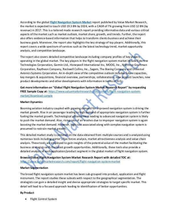 Flight Navigation System Market 2018-2025 Report
