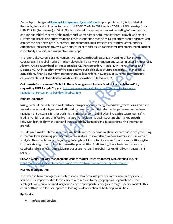 Railway Management System Market Report, 2025