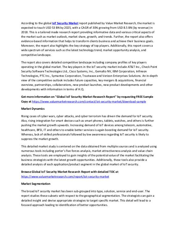 IoT Security Market Analysis Report 2018-2025