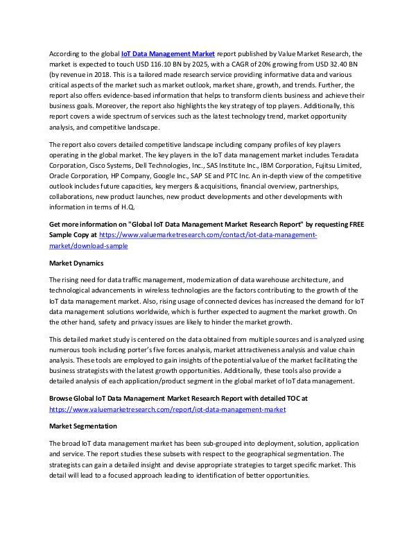 IoT Data Management Market Report 2018-2025