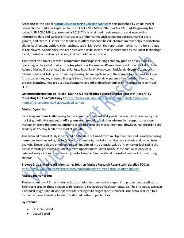 Marine AIS Monitoring Solution Market Report