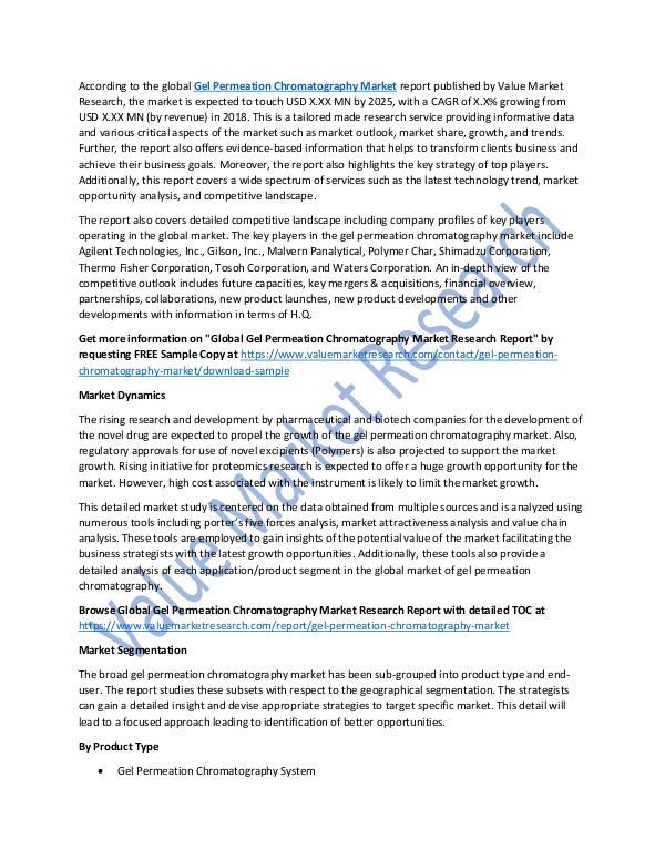 Gel Permeation Chromatography Market Report, 2025