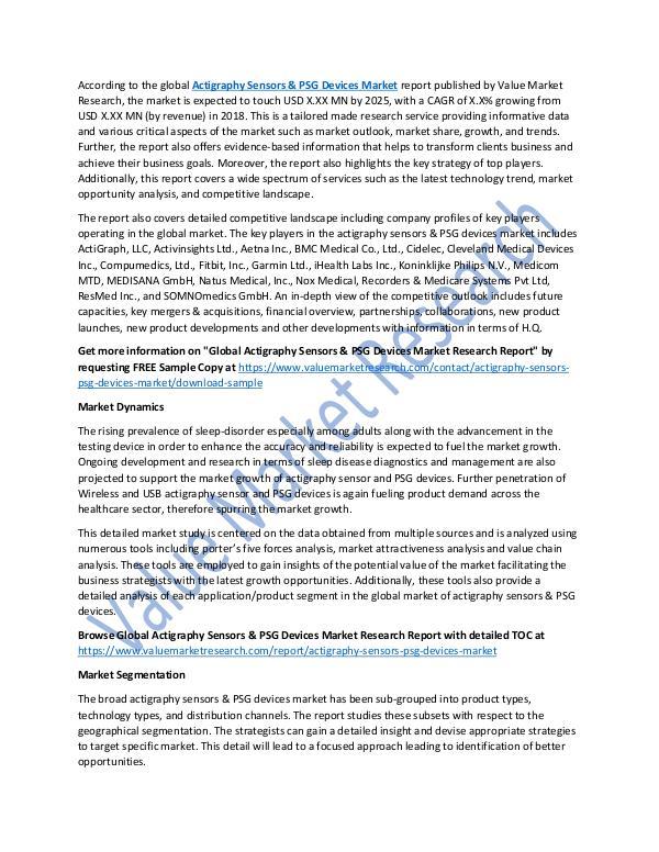 Actigraphy Sensors & PSG Devices Market Report