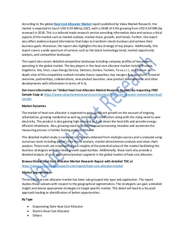 Heat Cost Allocator Market Growth Analysis, 2025