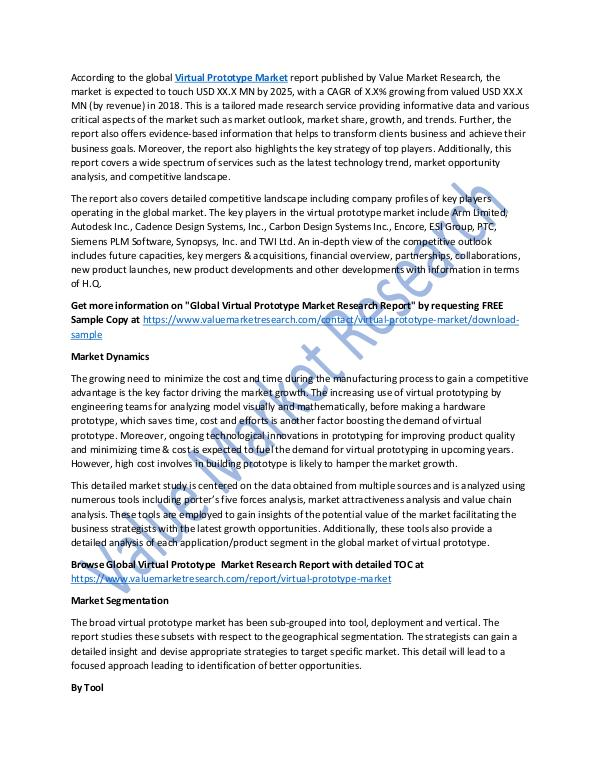 Virtual Prototype Market 2018-2025 Analysis Report