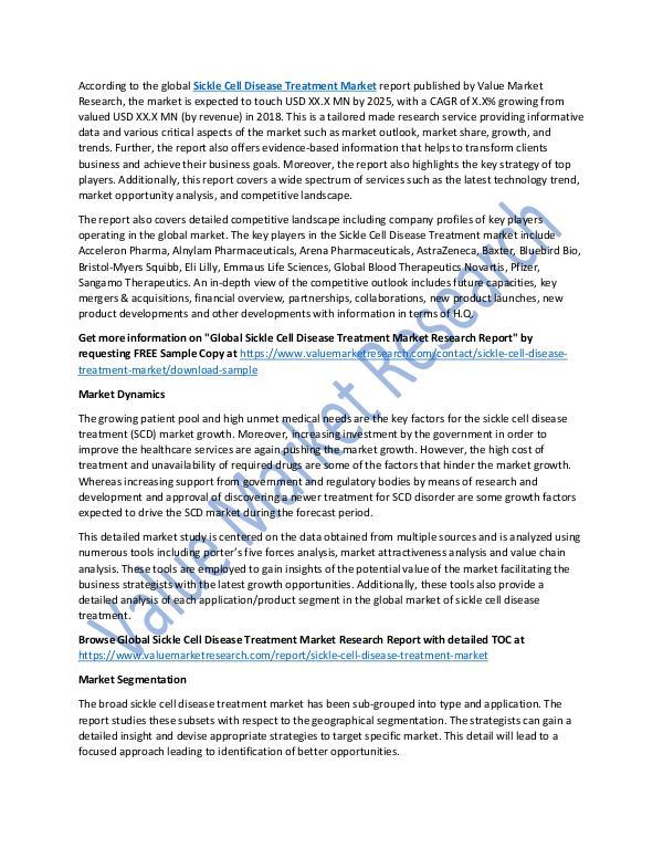 Sickle Cell Disease Treatment Market 2025 Report