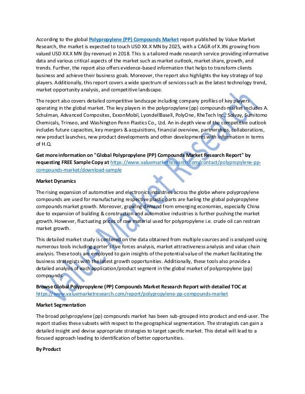 Polypropylene (PP) Compounds Market Report 2025