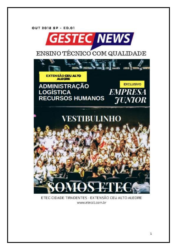 Minha primeira Revista Jornal GESTEC NEWS