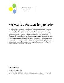 Revista memorias de una ingeniería