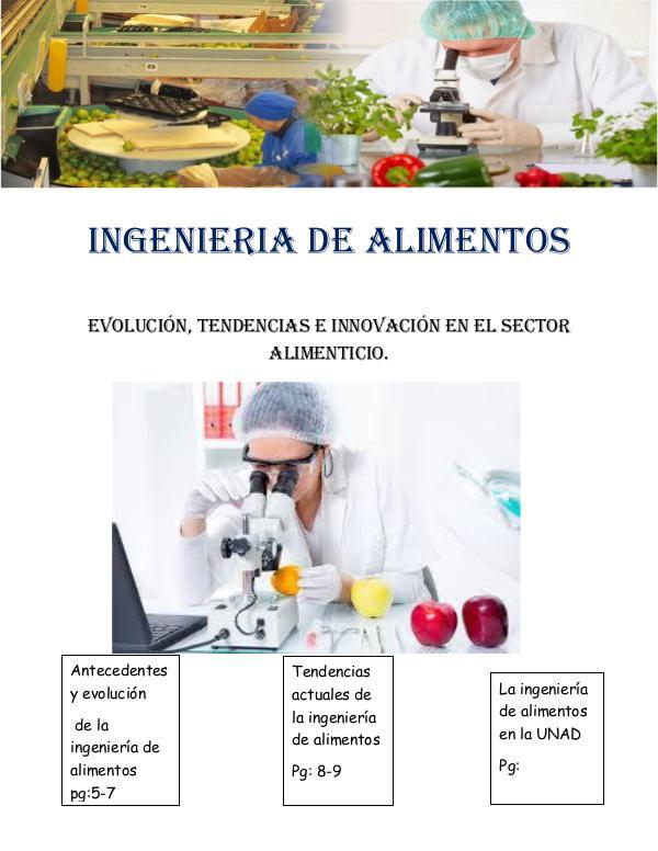 INGENIERIA DE ALIMENTOS: evolucion, tendencias e inovacion revista