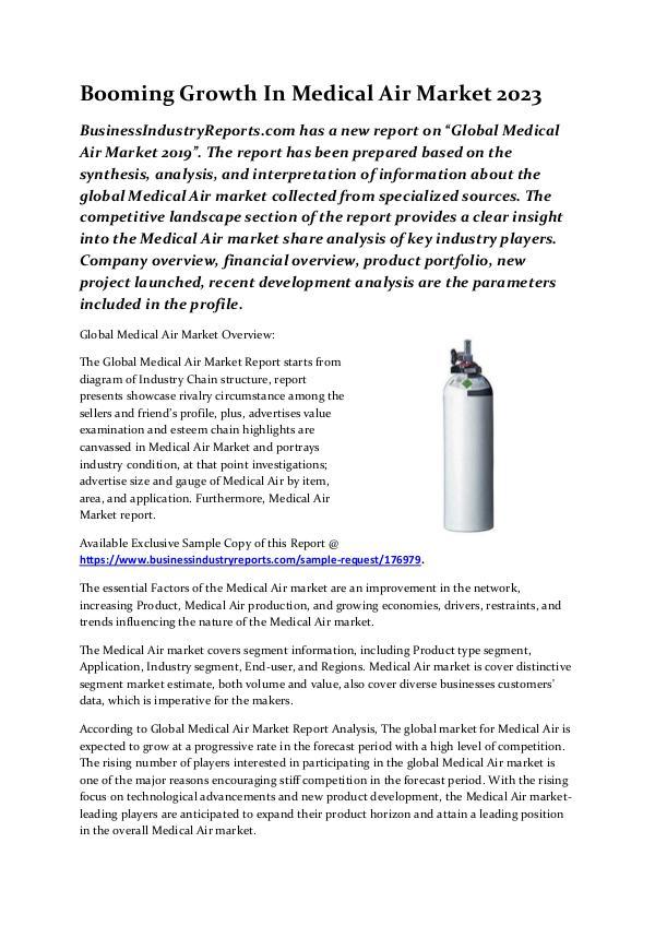 medical air market