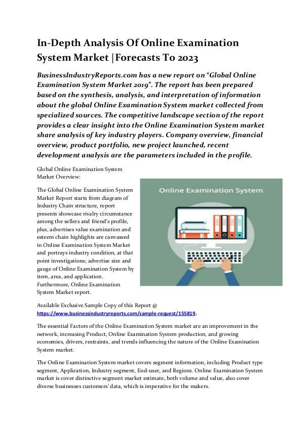 In-Depth Analysis Of Online Examination System Mar