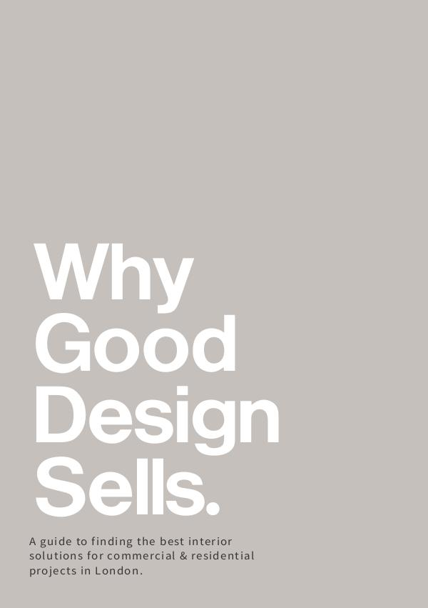 Why Good Design Sells Why Good Design Sells