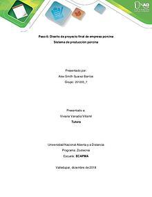 Proyecto planteamiento granja porcicola