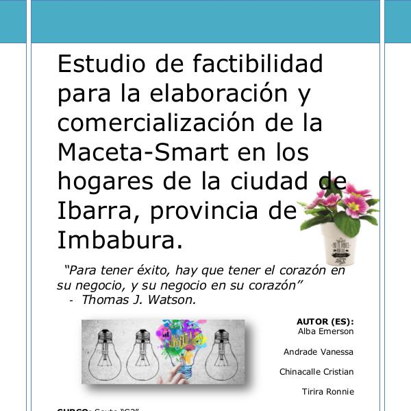 Proyecto Macetero-Smart PROYECTO MACETERO SMART