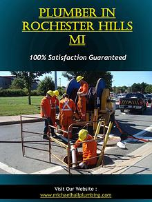 Plumber In Rochester Hills Mi | Call - 586-298-7285 | michaelhallplum